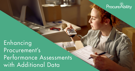 Enhancing Procurement Performance Assessments with Incentive Tracking and Supply Chain Data