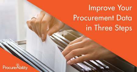 Improve Your Procurement Data in Three Steps
